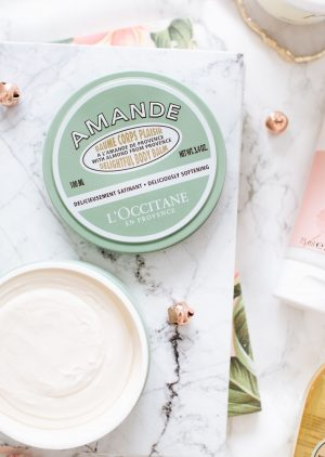 forever september, l'occitane, body balm, body pudding, zoella, zoella beauty, beauty, makeup, flatlay, body care, summer,