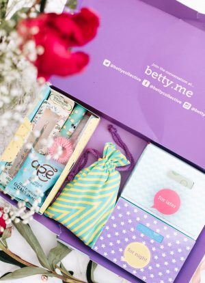 forever september, beauty, fashion, lifestyle, flatlay, betty box, period, period talk,