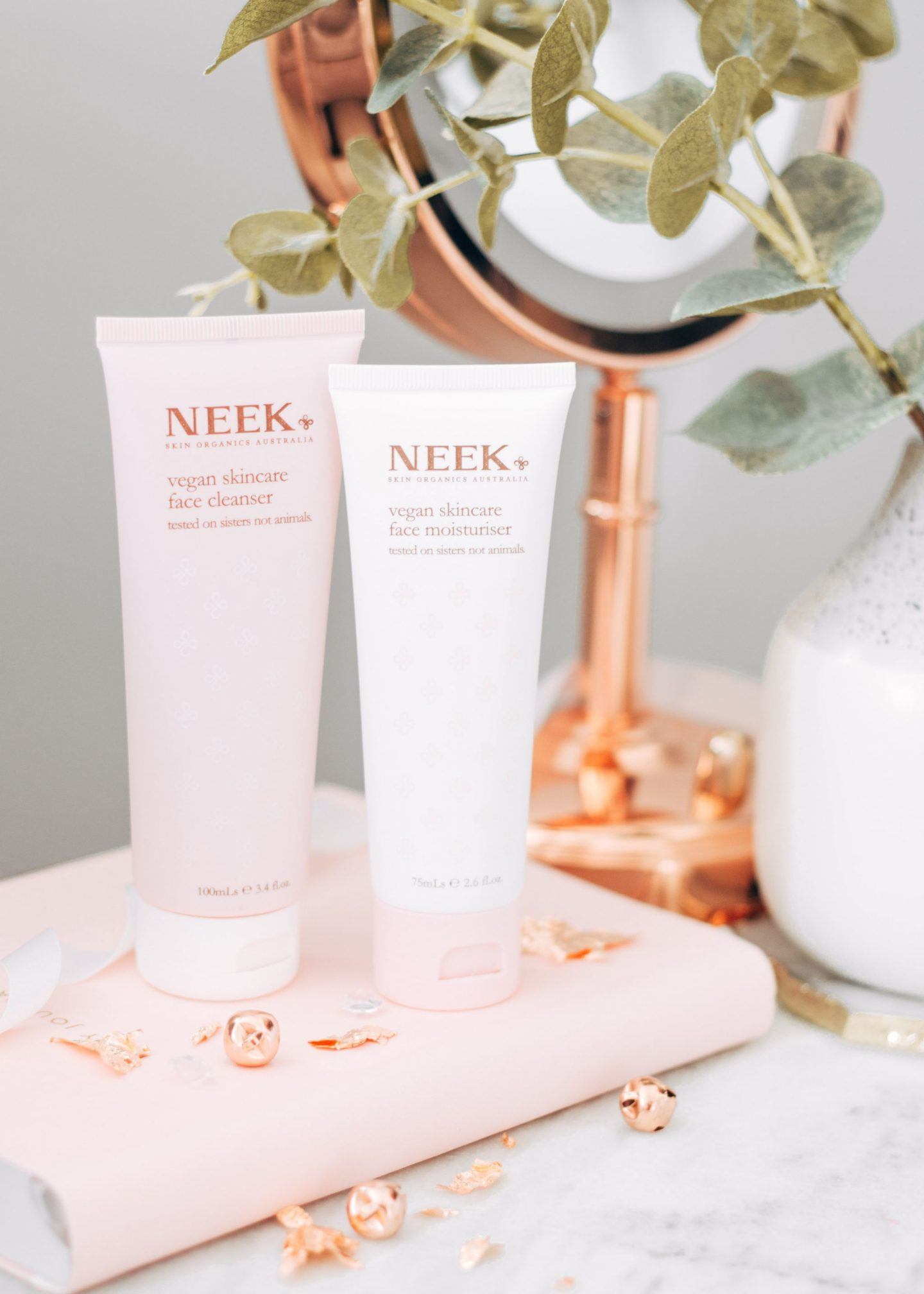 forever september, skincare on trial: neek, skincare, lifestyle, beauty, cleanser, moisturiser, skincare duo, natural, vegan skincare, cruelty free,